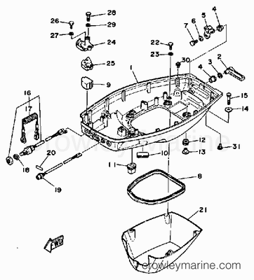 2000 Toyota Camry Thermostat Location likewise Part details also 572 moreover Mercruiser 140 Wiring Diagram furthermore T14228036 Need parts diagram fo 25 h p yamaha. on mercury outboard oil pump