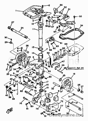 25hp 2 Stroke Charging System Yamaha Outboard Parts