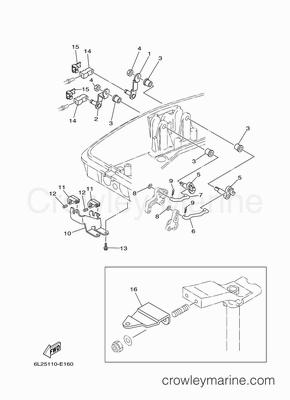 2008 yamaha outboard 25hp 25esh parts lookup crowley. Black Bedroom Furniture Sets. Home Design Ideas