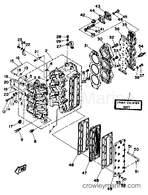 Diagram Of 1991 C85tlrp Yamaha Outboard Control Engine Diagram And