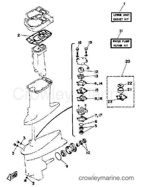 Yamaha Outboard Water Pump Diagram