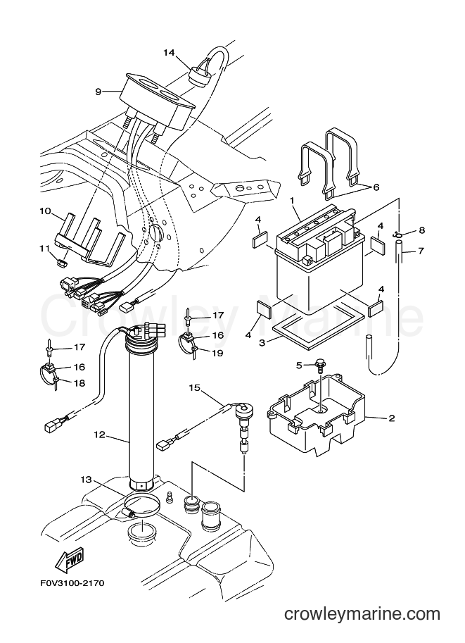 2003 Components JET FOR XA1200 - JET FOR XA1200 (68NE) [02A] - ELECTRICAL 2