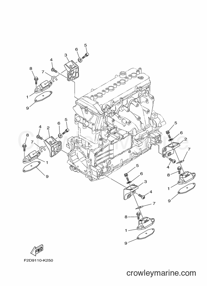 2017 WaveRunner SH1800B-S - SH1800B-S (F3M5) [020] - ENGINE MOUNT
