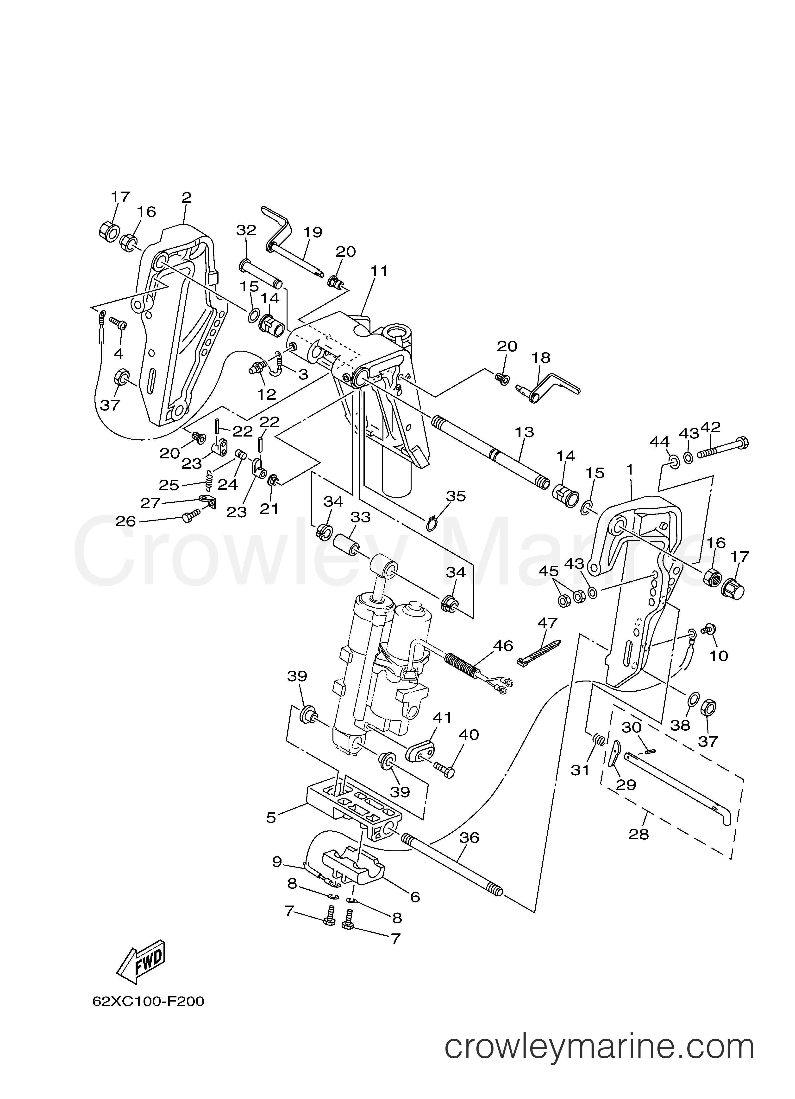 CKET 1 - 2008 Yamaha Outboard 50hp 50TLR | Crowley Marine Yamaha Tlr Outboard Wiring Diagram on
