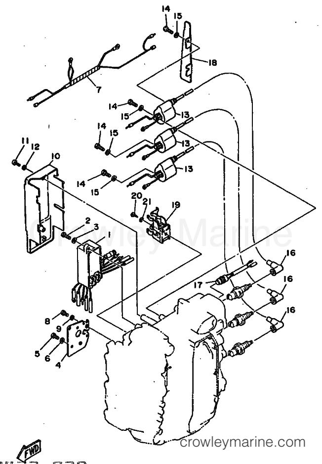 1985 Yamaha International 50hp - 50D (6H5) [999] ELECTRICAL 1 section