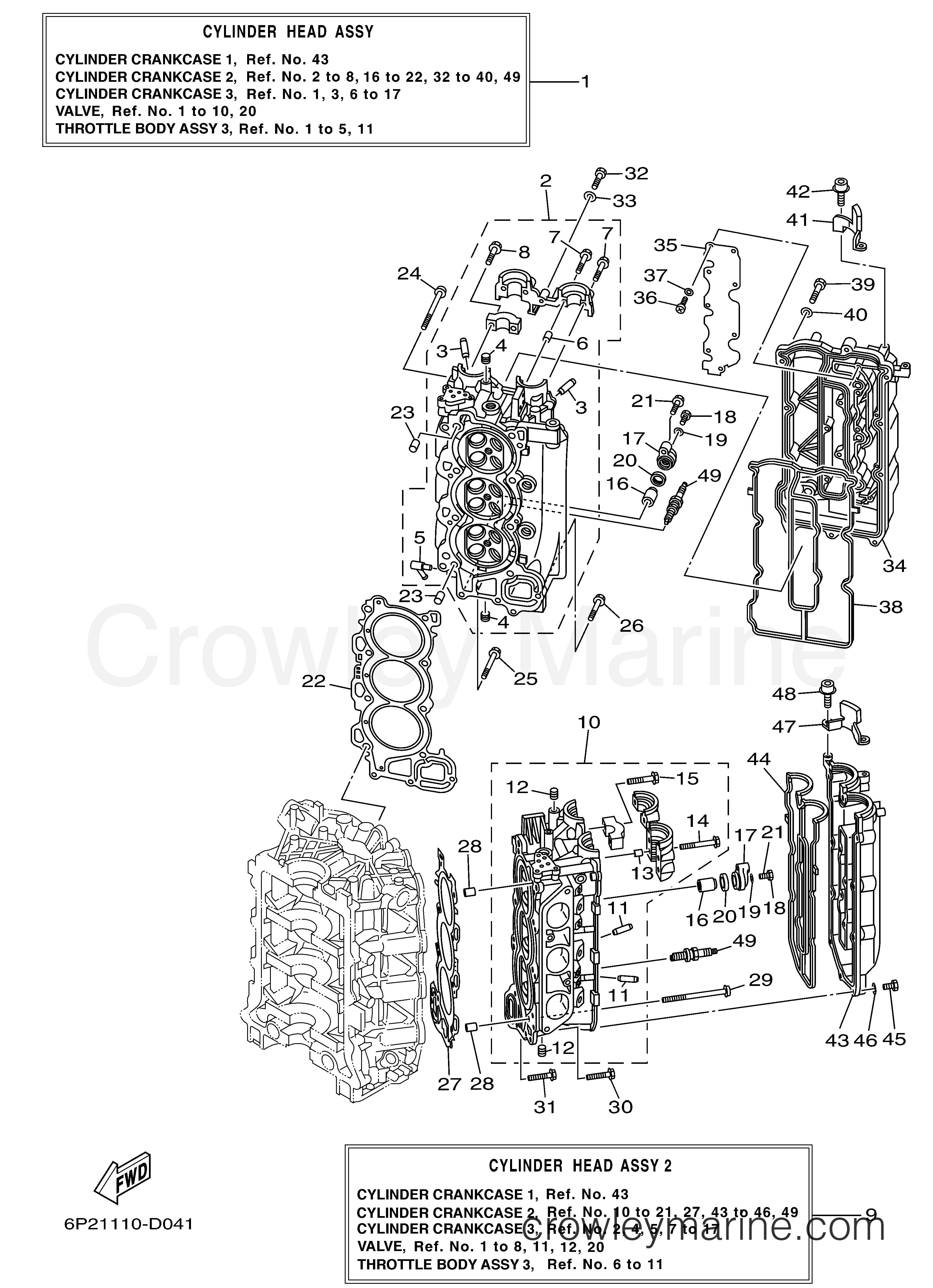 cylinder crankcase 2