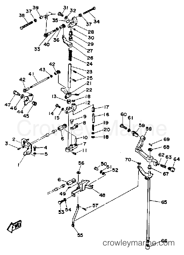 Diagram Of 1991 C55elrp Yamaha Outboard Control Engine Diagram And
